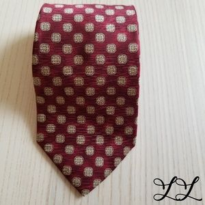 Vintage Christian Dior Tie Mens Monsieur Silk Red